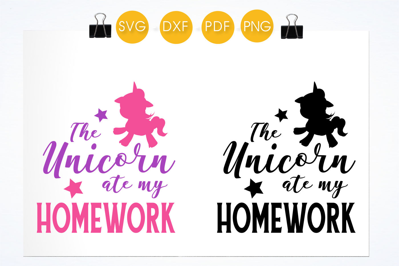 Unicorn Ate My Homework Svg Png Eps Dxf Cut File By