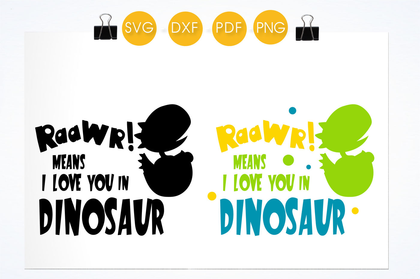 I Love You In Dinosaur Svg Png Eps Dxf Cut File By