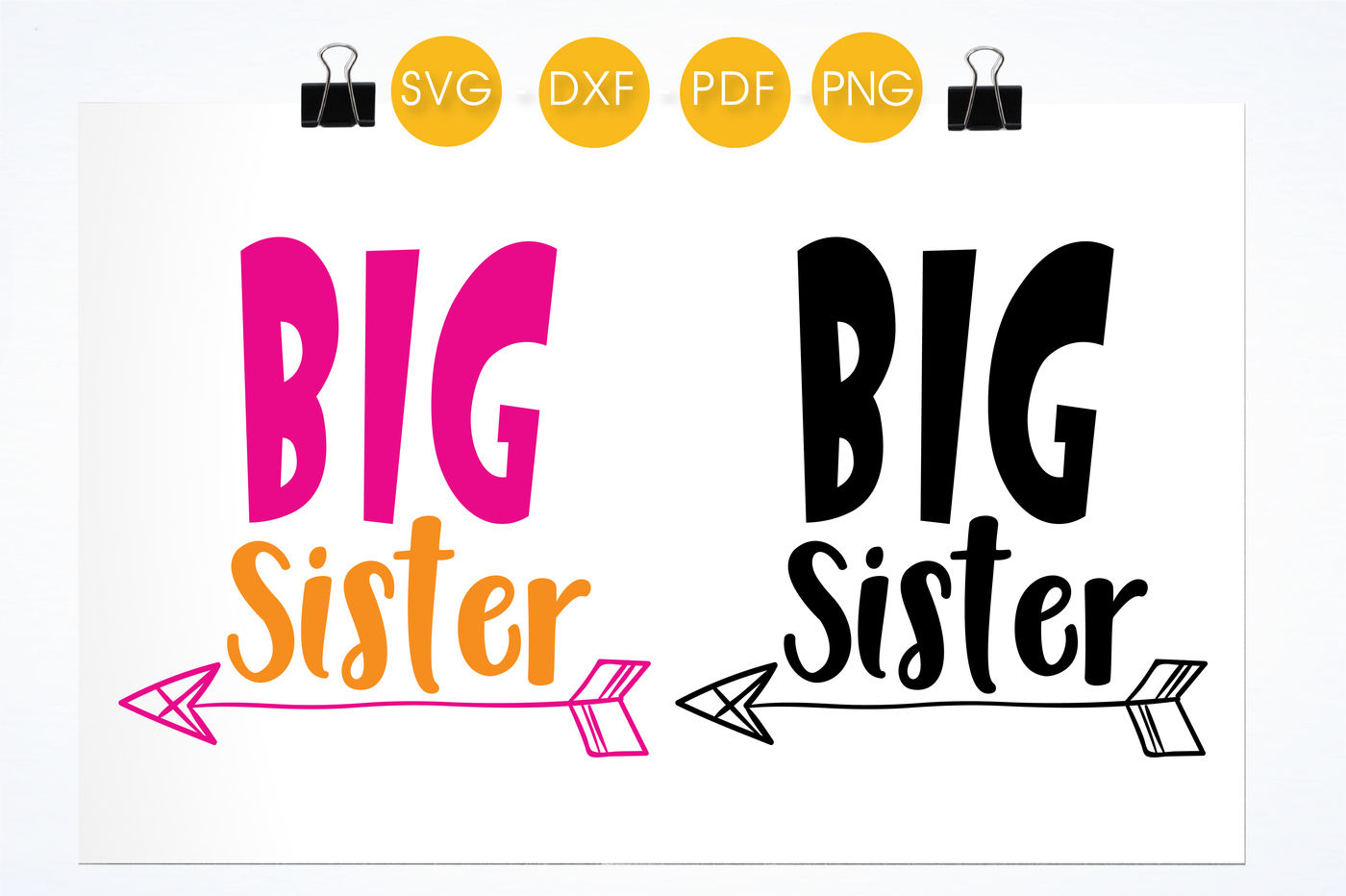 Big Sister Svg Png Eps Dxf Cut File By Prettycuttables Thehungryjpeg Com