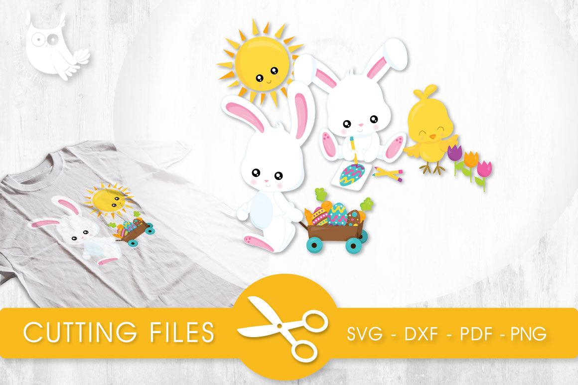 Outside Spring Cuties Svg Png Eps Dxf Cut File By Prettycuttables Thehungryjpeg Com