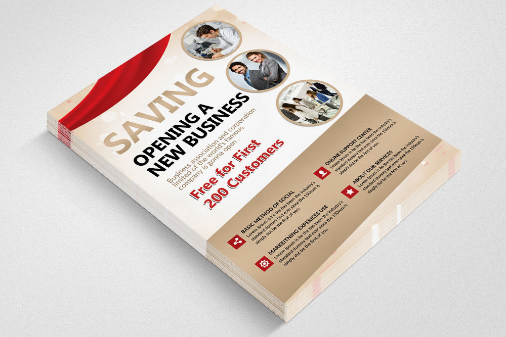 Grand Opening Flyer 2 Sided By Designhub Thehungryjpeg Com