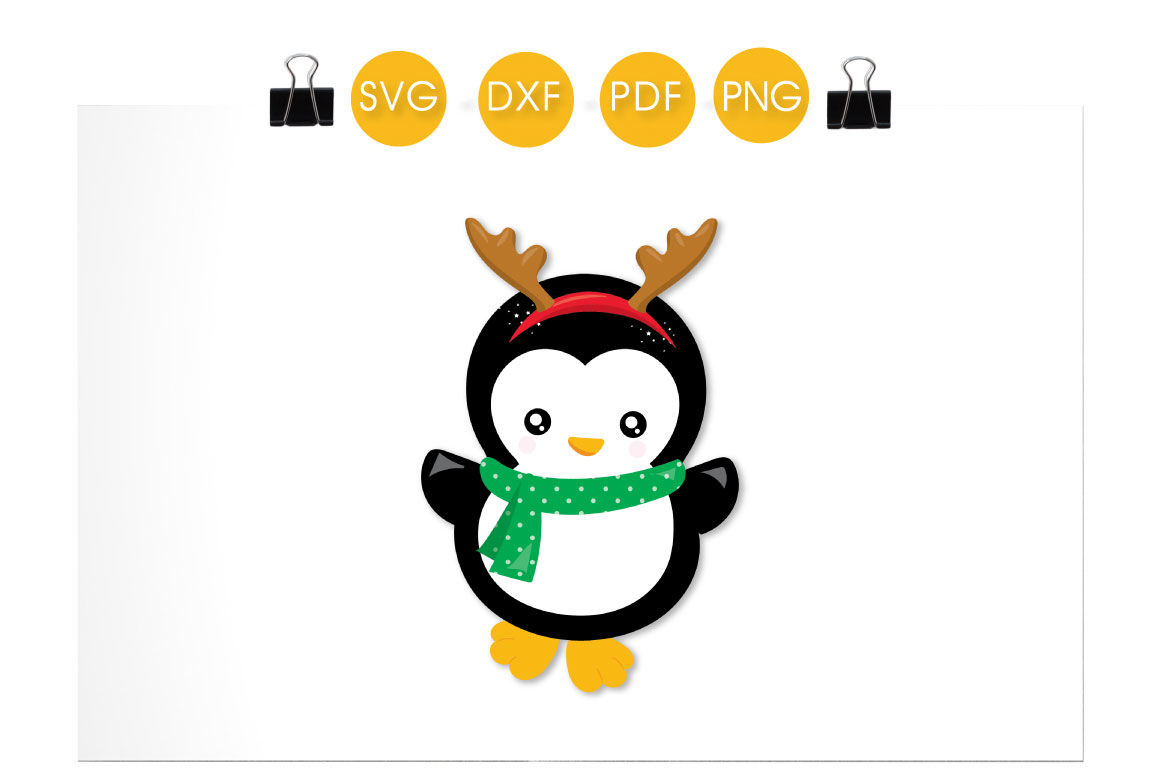 Reindeer Penguin Svg Png Eps Dxf Cut File By Prettycuttables Thehungryjpeg Com