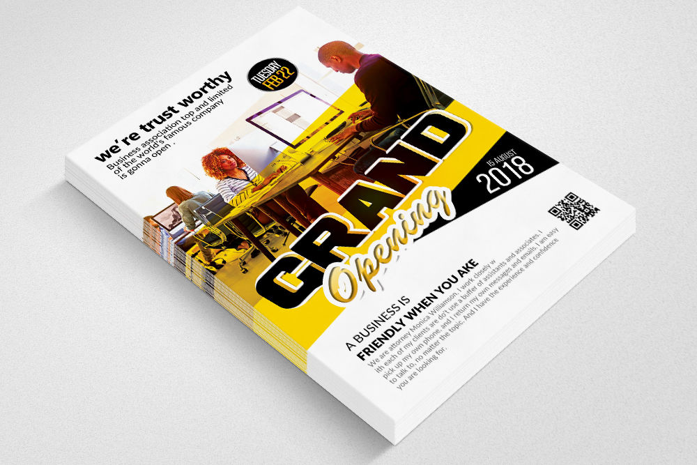 Latest Grand Opening Business Flyer By Designhub Thehungryjpeg Com
