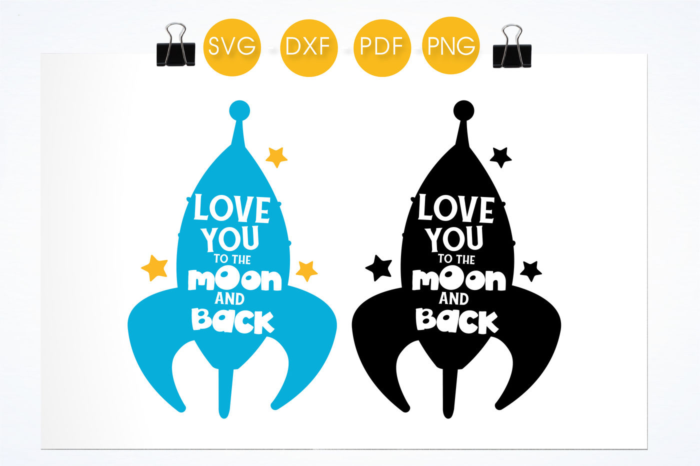 Love You To The Moon And Back Svg Png Eps Dxf Cut File By Prettycuttables Thehungryjpeg Com