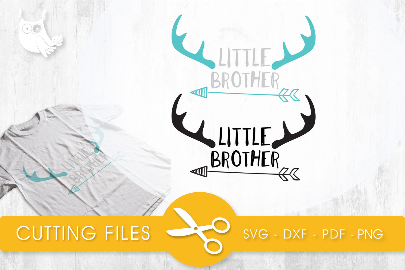Little Brother Svg Png Eps Dxf Cut File By Prettycuttables Thehungryjpeg Com