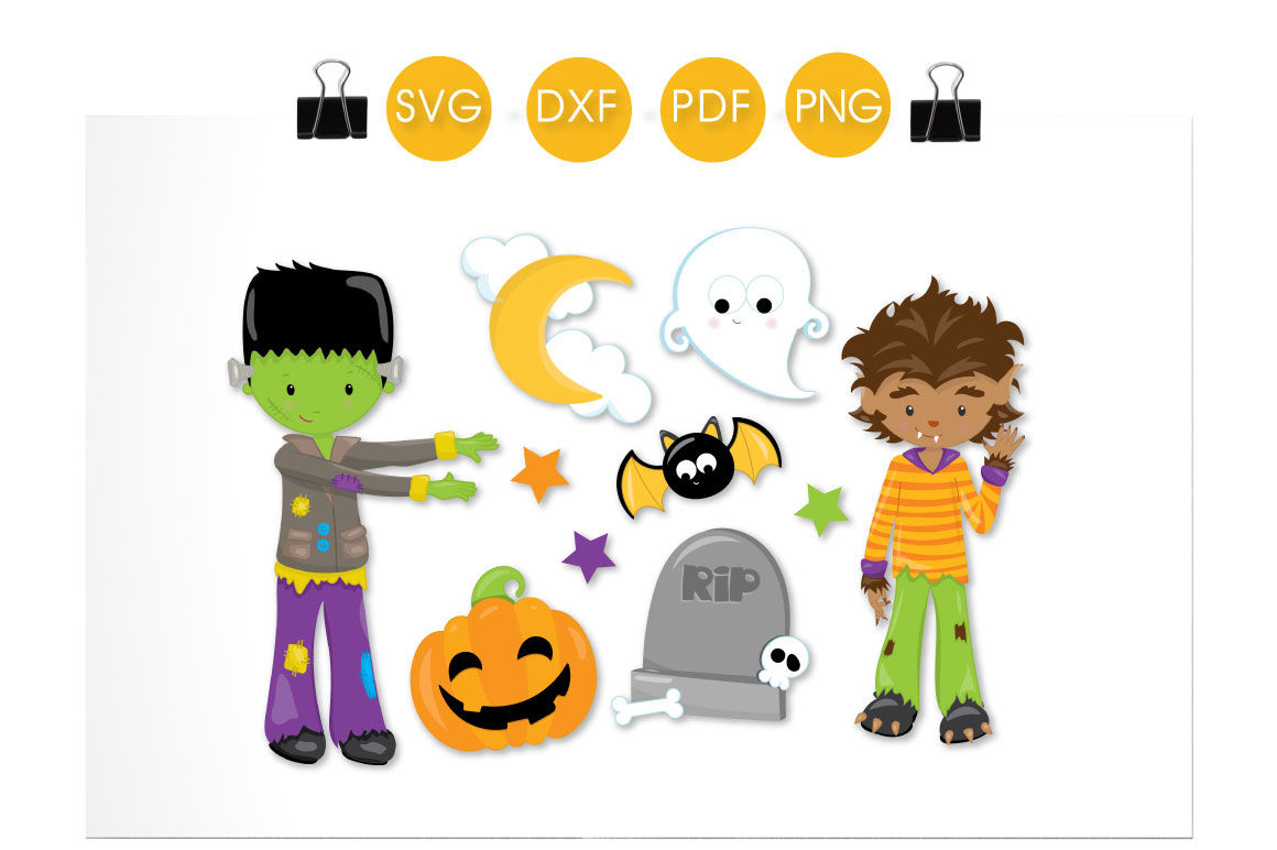 Spooktacular Boys Svg Png Eps Dxf Cut File By Prettycuttables
