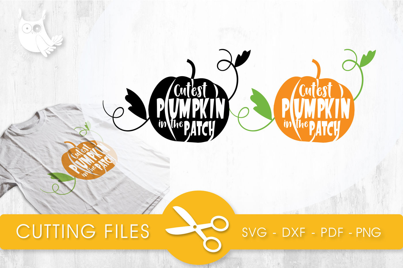Cutest Pumpkin In The Patch Svg Png Eps Dxf Cut File By Prettycuttables Thehungryjpeg Com