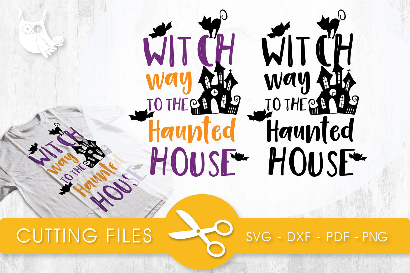 Witch Way To The Haunted House Svg Png Eps Dxf Cut File By