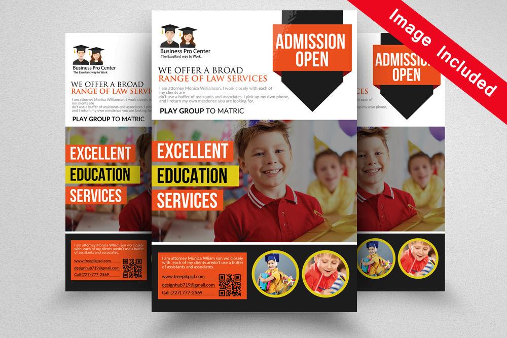 School Admission Open Flyer By Designhub | TheHungryJPEG com