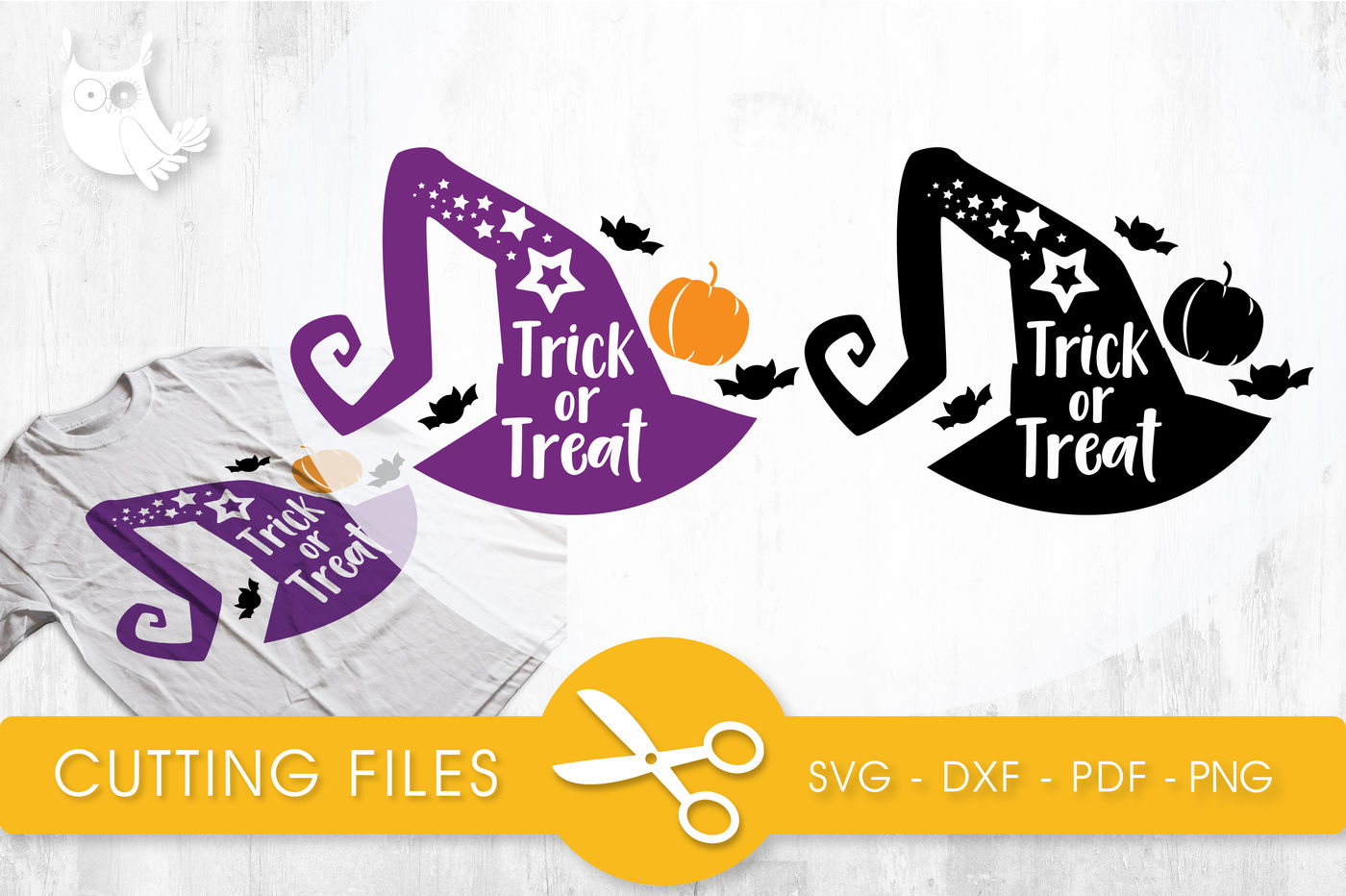 Trick Or Treat Svg Png Eps Dxf Cut File By Prettycuttables Thehungryjpeg Com