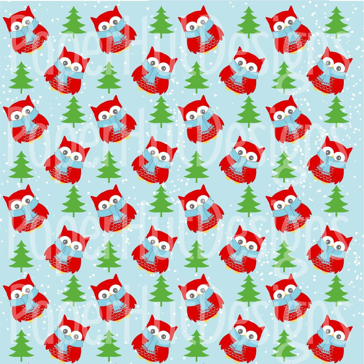 Christmas Clipart And Digital Papers Set By Paperhutdesigns