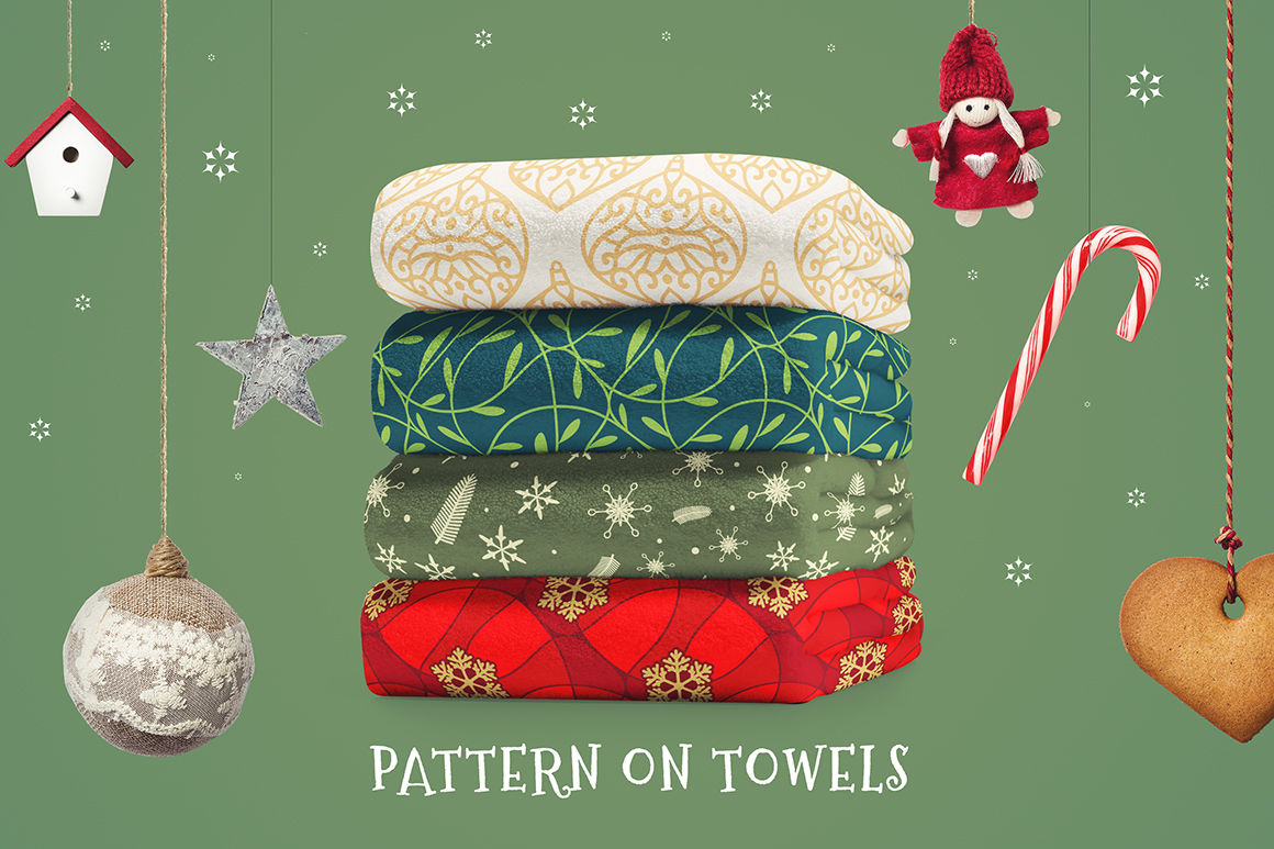 100 Christmas Seamless Patterns By Pixaroma Thehungryjpeg Com
