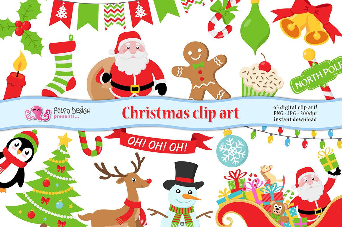 Christmas Clipart By Polpo Design Thehungryjpeg Com