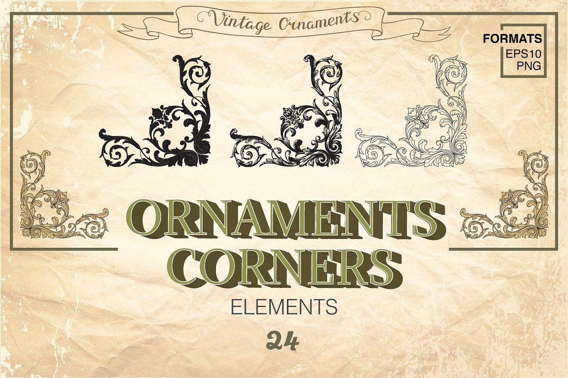 Corner Ornament Set Vintage By Samiradragonfly Thehungryjpeg Com