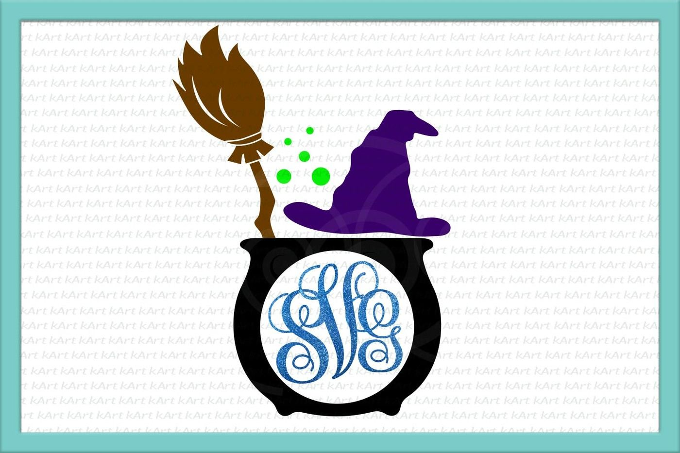 Witch Monogram Svg Halloween Monogram Svg Witch Svg Broom Svg Witch Hat Svg Halloween Svg Spooky Svg Commercial Cut Files Dxf Cuts By Kartcreation Thehungryjpeg Com