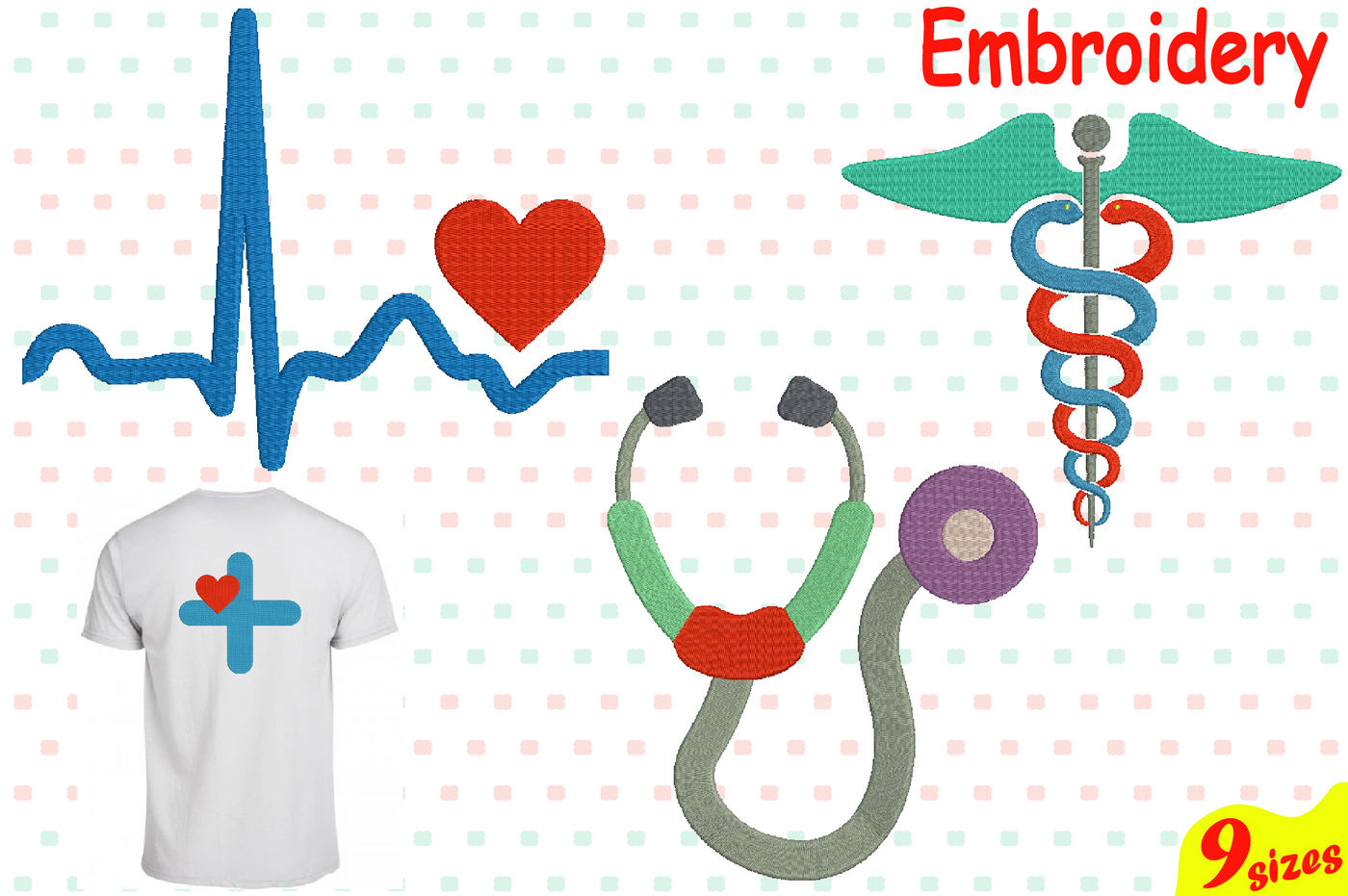 Medic Symbol Designs For Embroidery Machine Instant Download