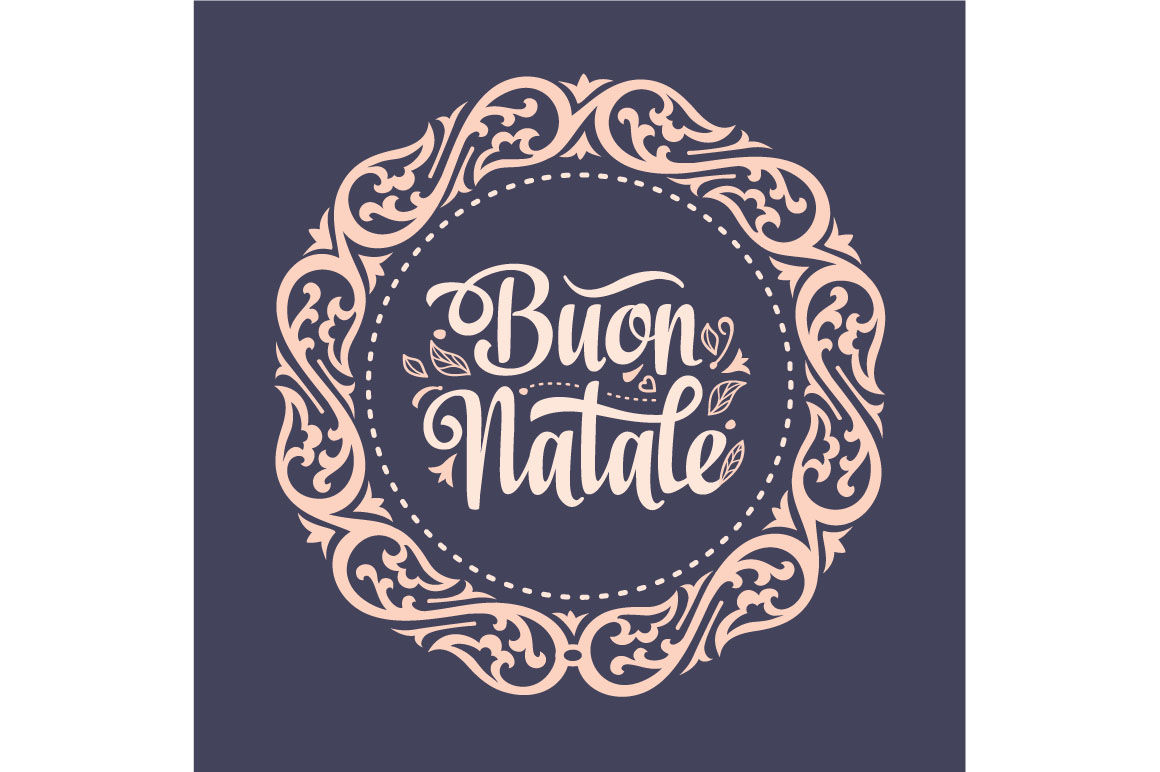 Buon Natale Christmas Template Greeting Card Winter Holiday In