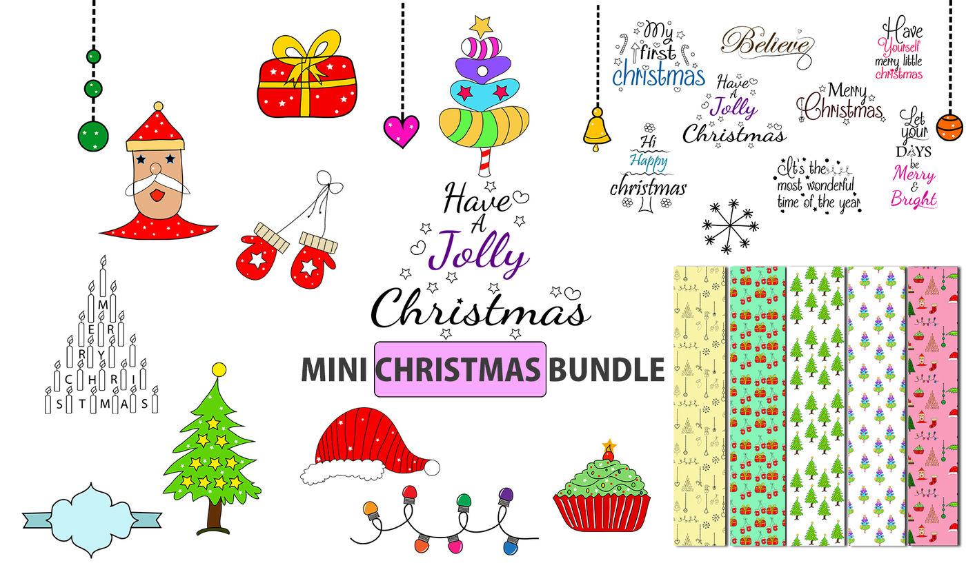 Hand Drawn Christmas Doodle Christmas Svg Cut File Bundle Christmas Elements Christmas Clipart By Arcsmultidesignsshop Thehungryjpeg Com