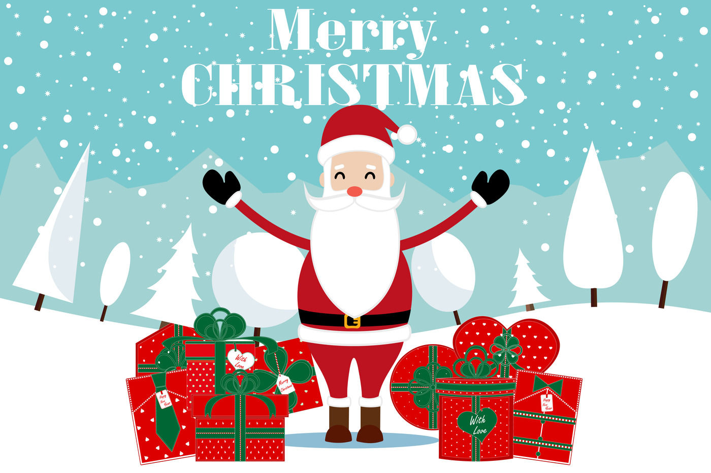 Merry Christmas And Happy New Year Santa By Sunshine Shop