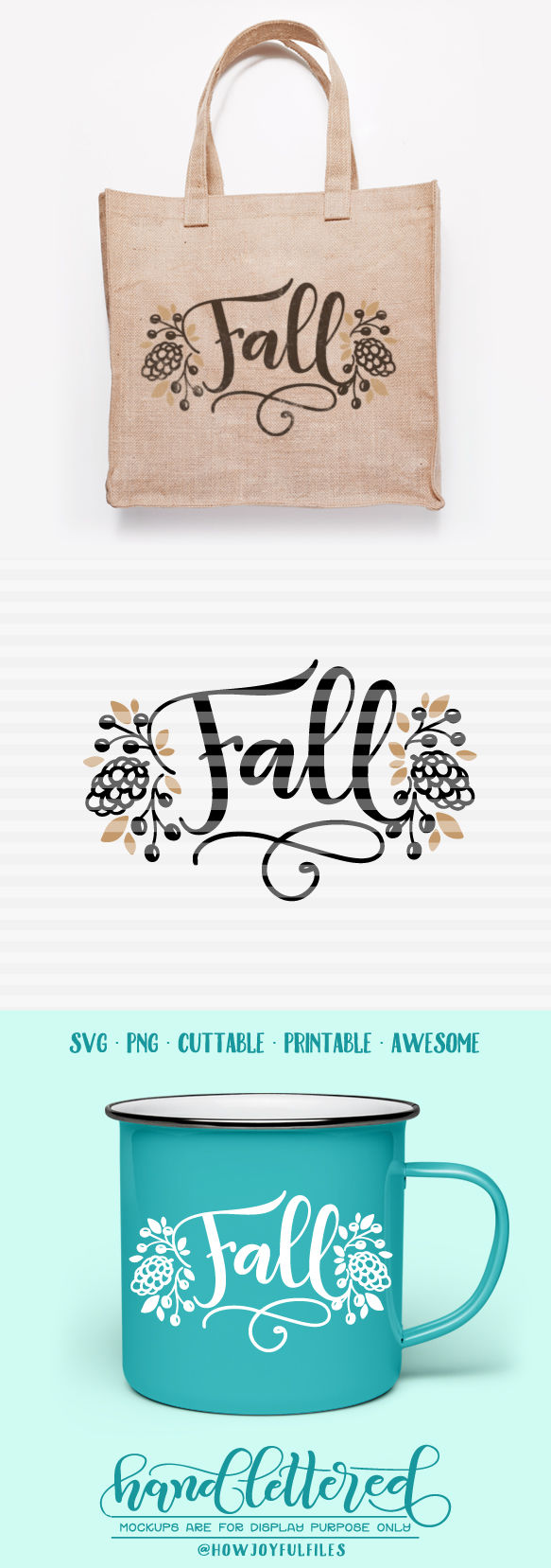 Fall Autumn Svg Dxf Pdf Files Hand Drawn Lettered Cut File Graphic Overlay By Howjoyful Files Thehungryjpeg Com