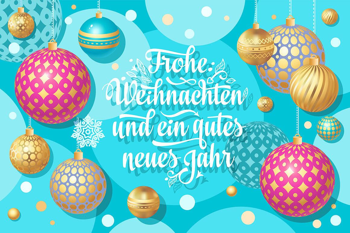 Frohe Weihnachten Aus Deutschland.Christmas Greeting Card Frohe Weihnacht Neues Jahr