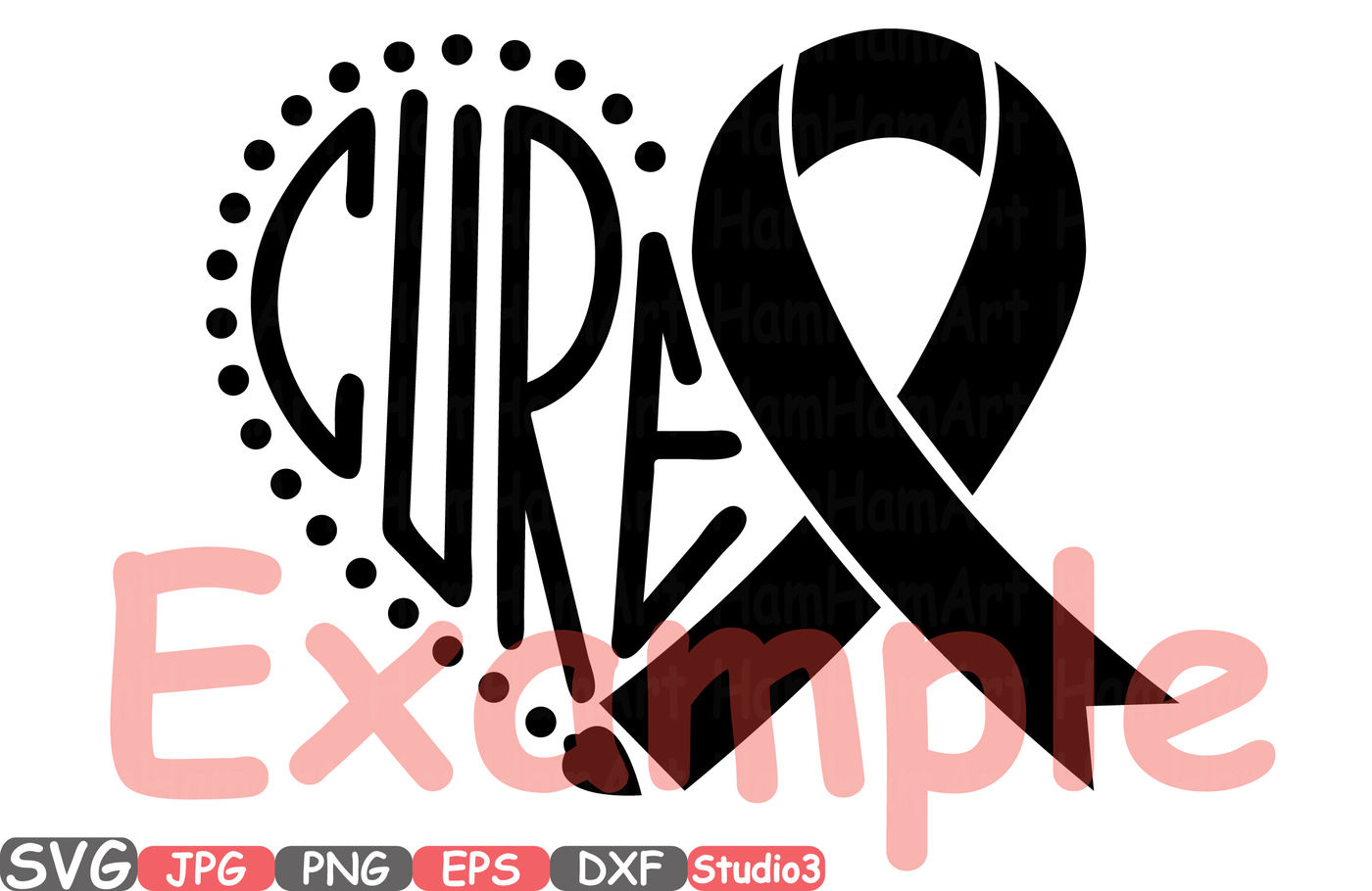 Breast Cancer Ribbon Silhouette Svg Cutting Files Digital Clip Art