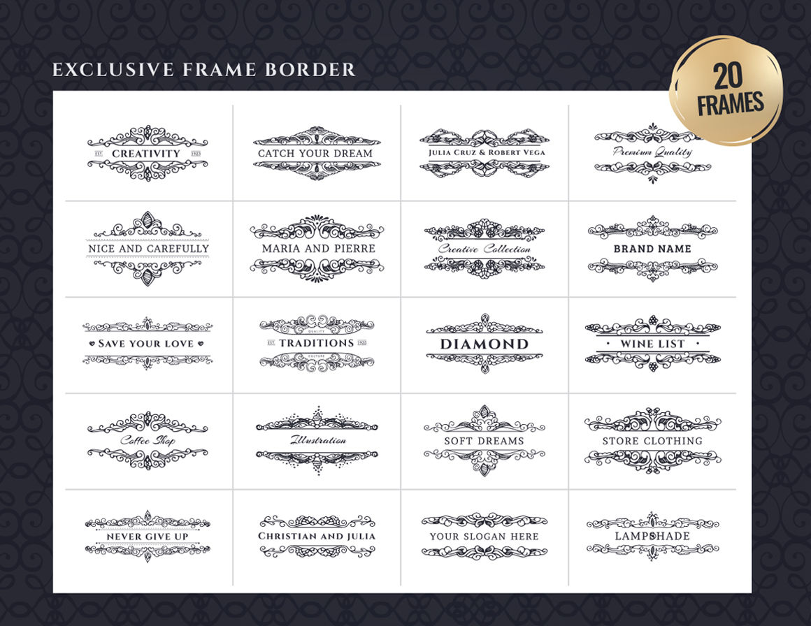 Frame Borders Ready Made Cards By Lubou Thehungryjpeg Com