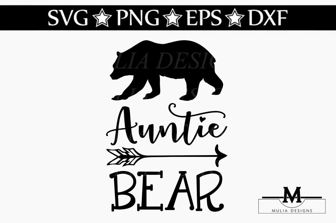 Auntie Bear Svg By Mulia Designs Thehungryjpeg Com