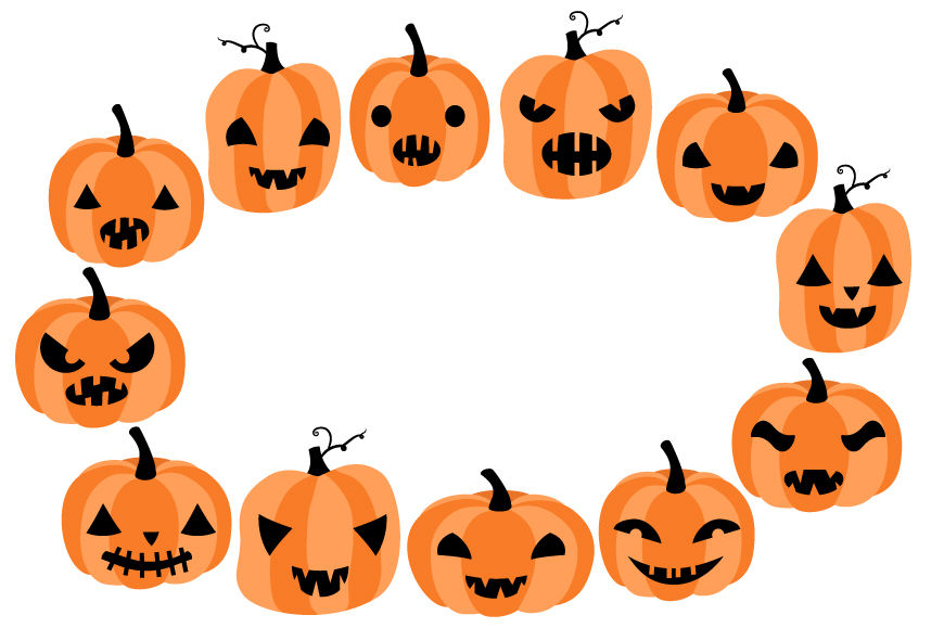 Cute Halloween pumpkins clipart, Spooky pumpkin faces clip