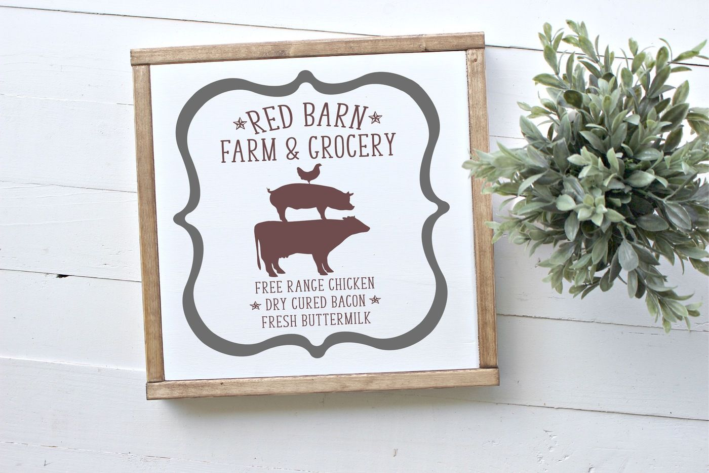 Red Barn Farm Grocery Svg By Rosemary Designs Thehungryjpeg Com