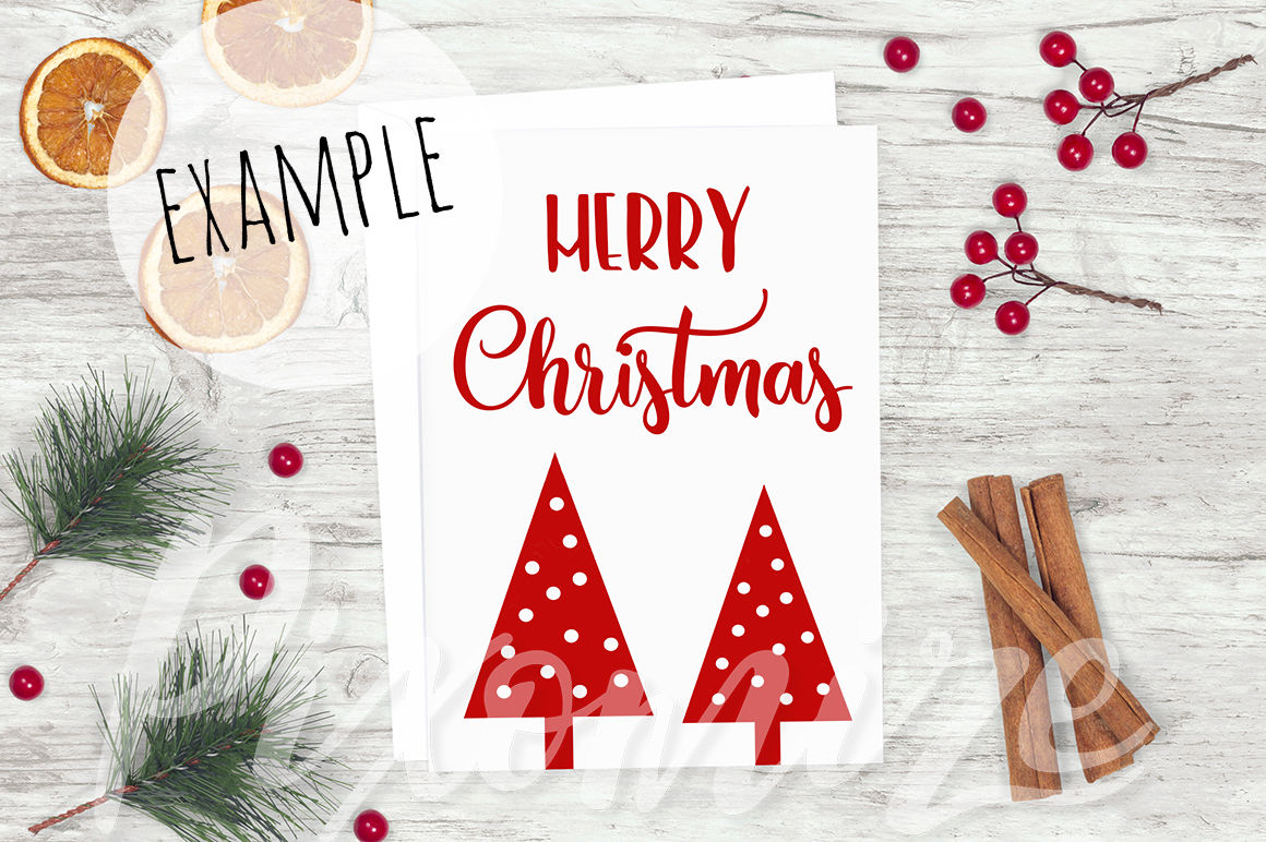 Rustic Christmas Card Mockup Photograph By Doodle And Stitch