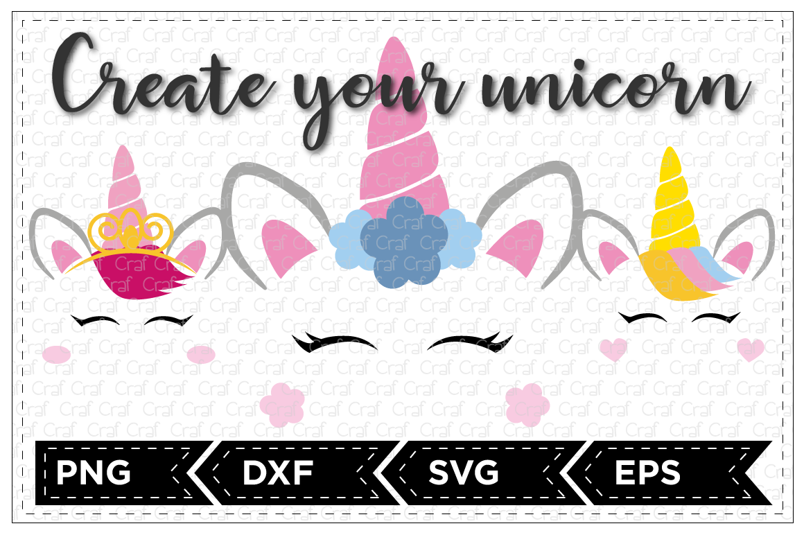 Create Your Unicorn Set By Craf Craf Thehungryjpeg Com
