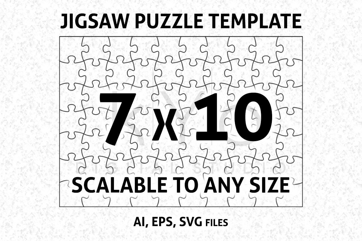 Jigsaw Puzzle Template Ai Eps Svg Dxf Formars Puzzle Vector