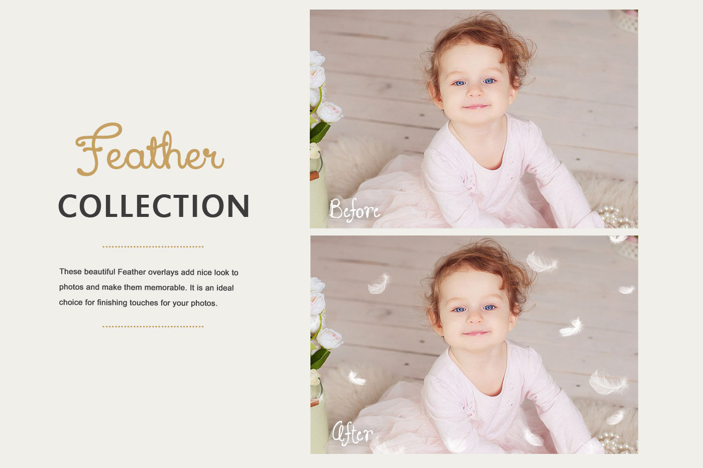 Feather photo overlays, Overlays for photoshop By Greet