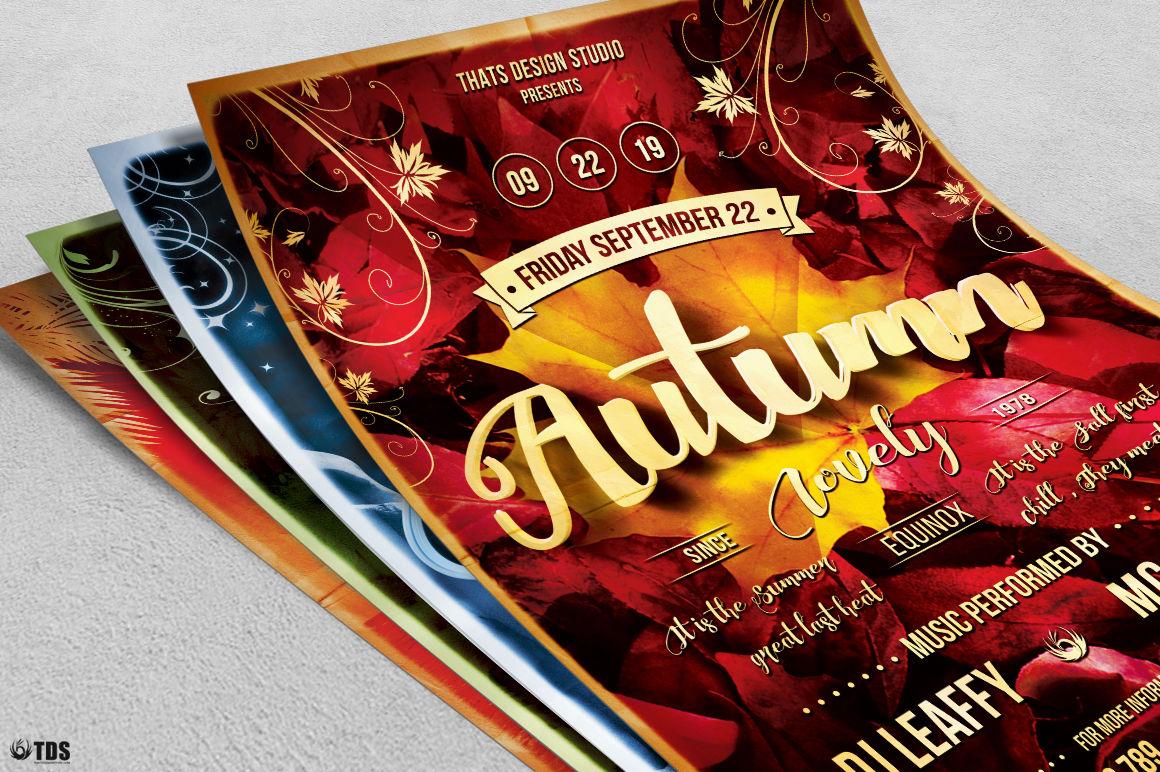 Four Seasons Flyer Bundle By Thats Design Store Thehungryjpeg Com