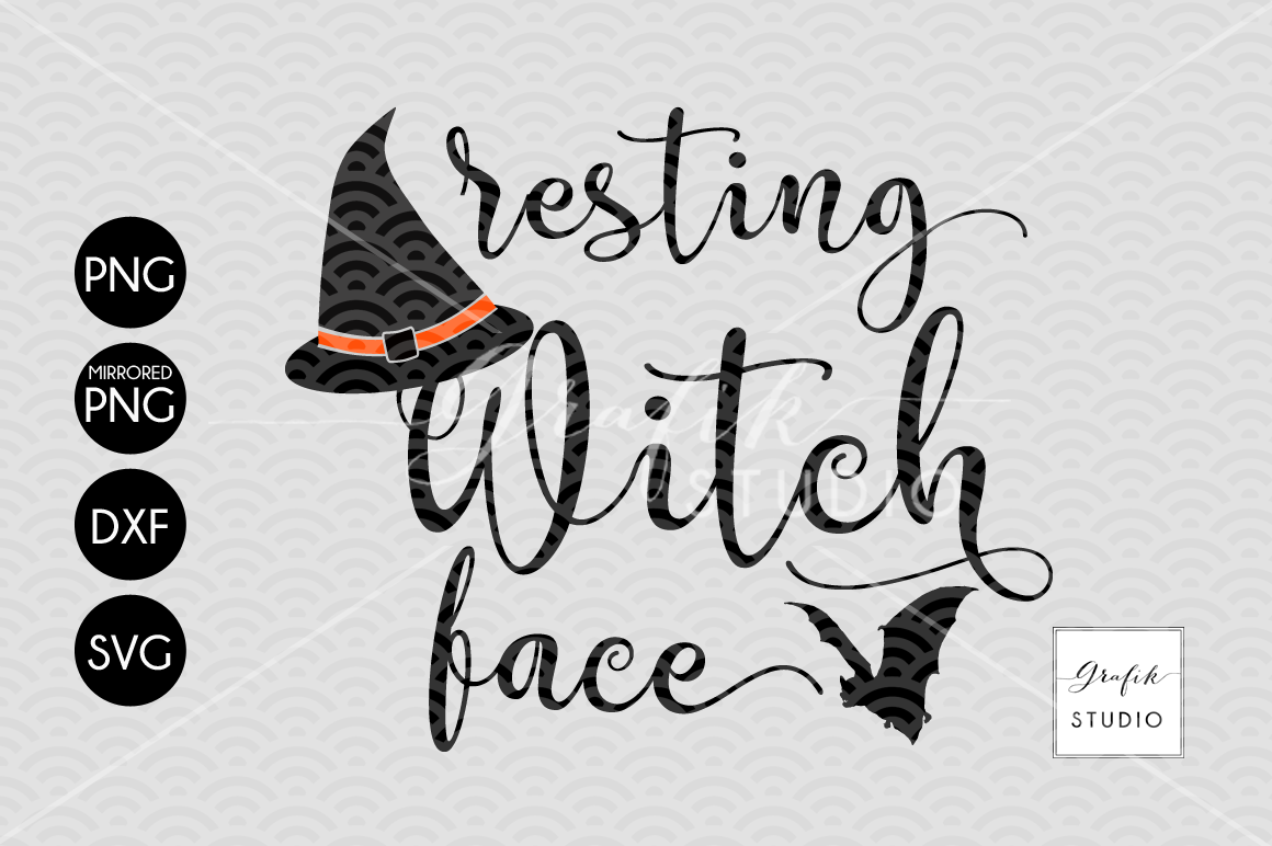 Resting Witch Face Halloween Svg Cut File Halloween Cut Files Cut Files For Crafters By Grafikstudio Thehungryjpeg Com