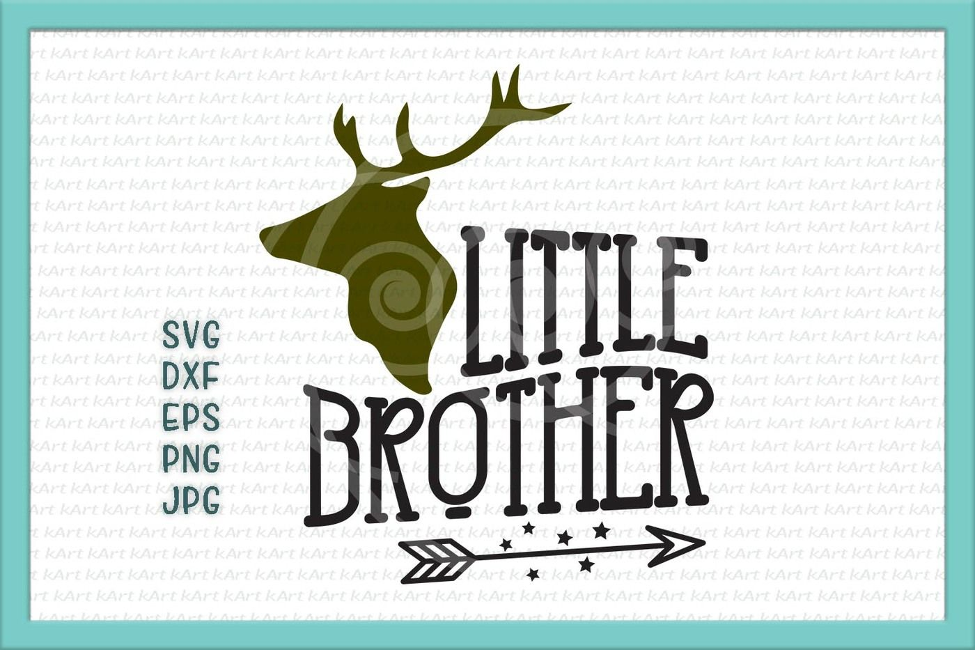 Little Brother Svg Little Brother Antlers Svg Arrow Svg Big