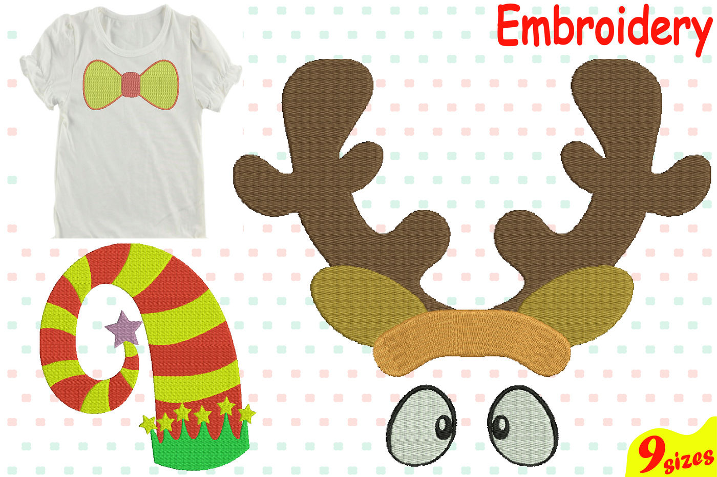 Christmas Designs For Embroidery Machine Instant Download