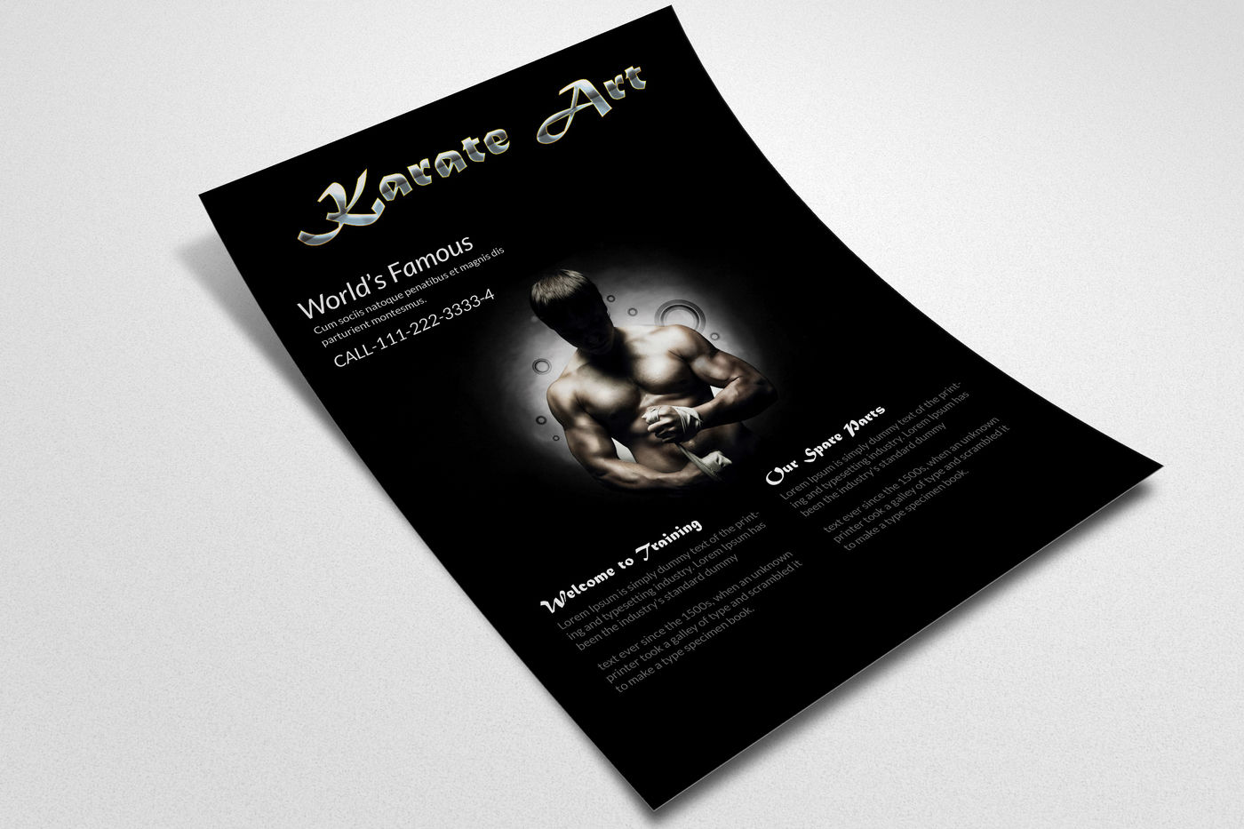 Karate Martial Arts Flyer Template By Designhub Thehungryjpeg Com
