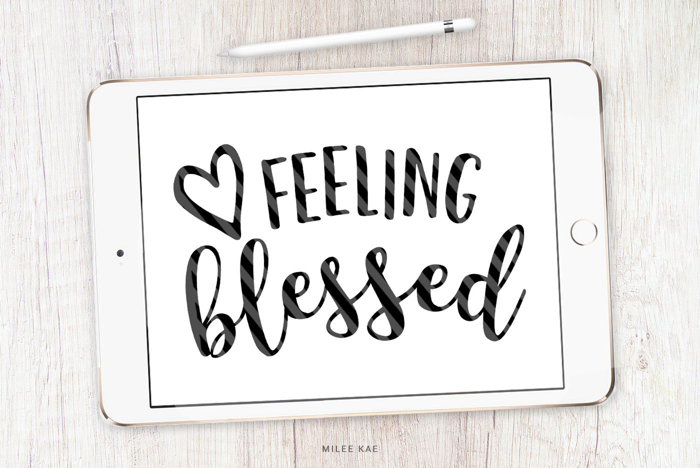 Feeling Blessed Cutting File Svg Png Eps By Mileekae Thehungryjpeg Com