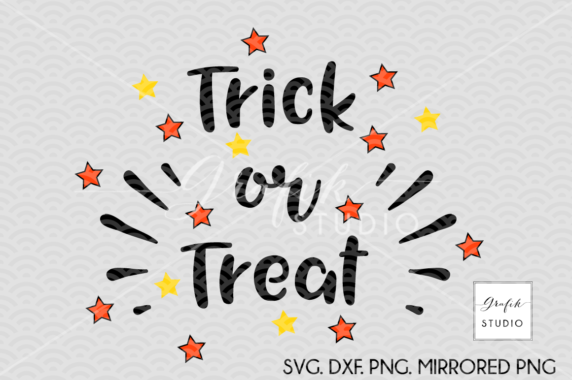 Trick Or Treat Halloween Svg Cut File Dxf And Png File By Grafikstudio Thehungryjpeg Com
