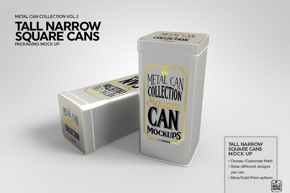 Download 5oz Four Cans Mockup Yellow Images