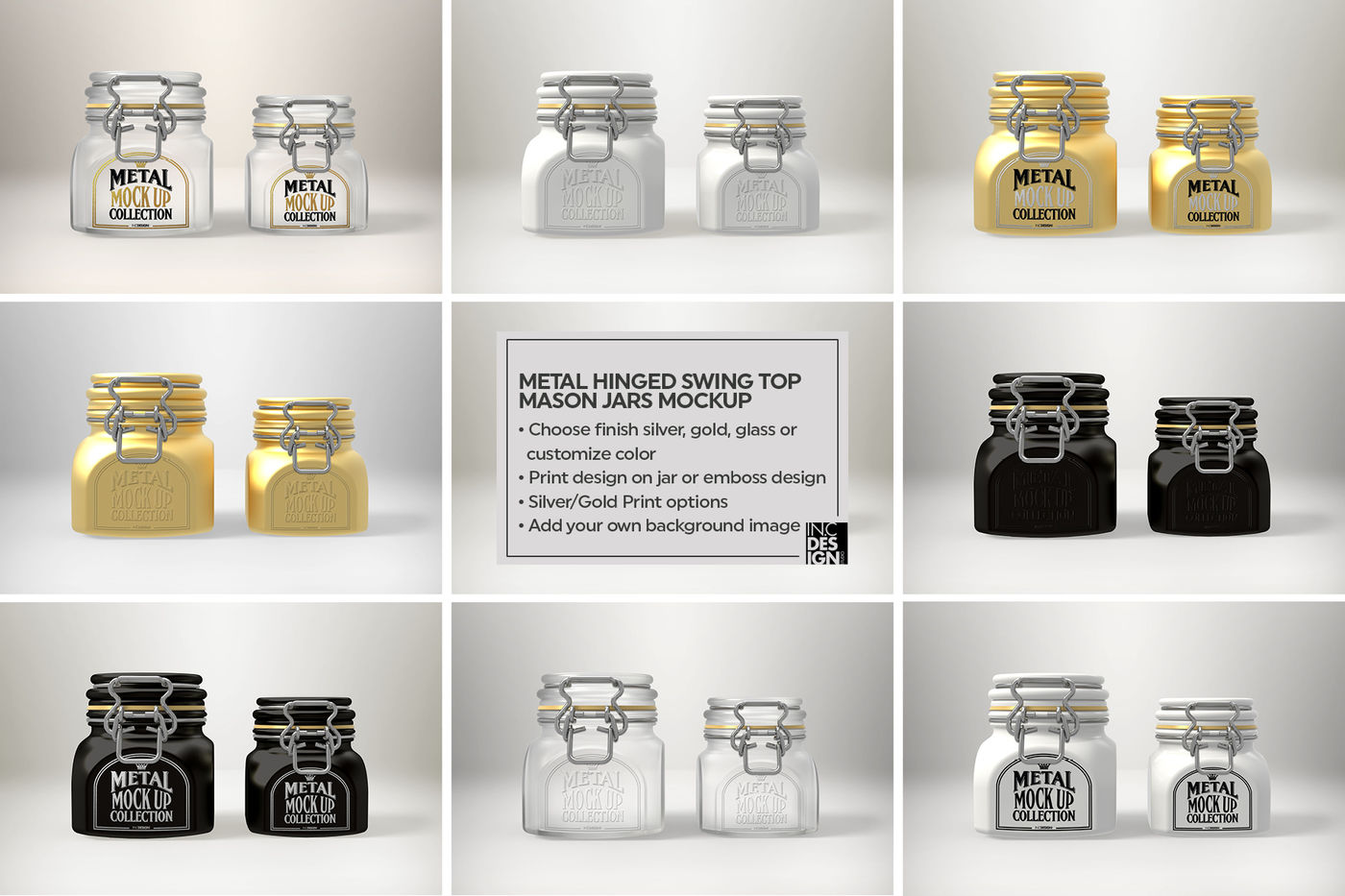 Download Two Aluminium Cans With Metallic Finish Mockup Yellowimages