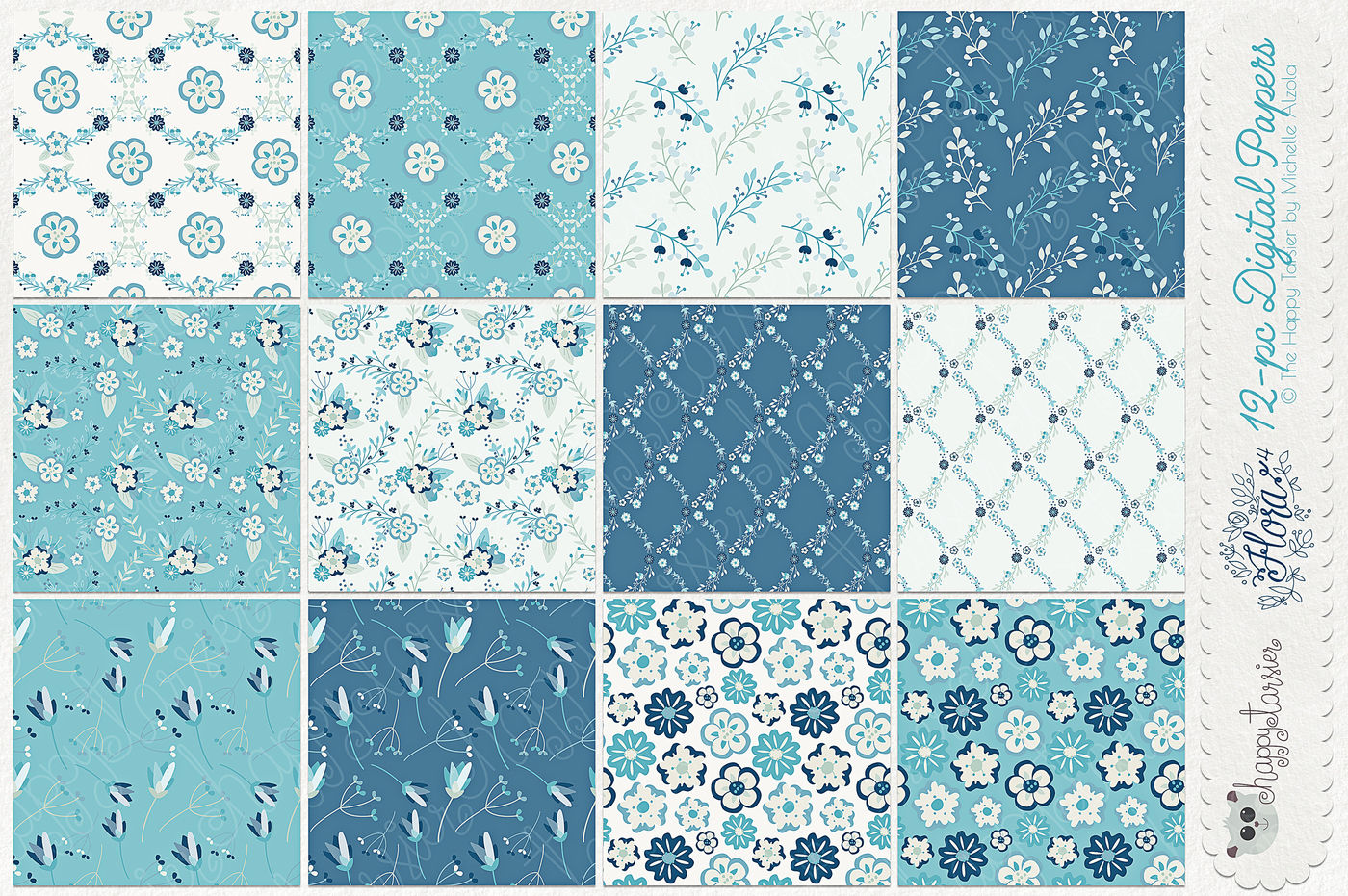 Flower Digital Papers And Seamless Pattern Designs Flora 04