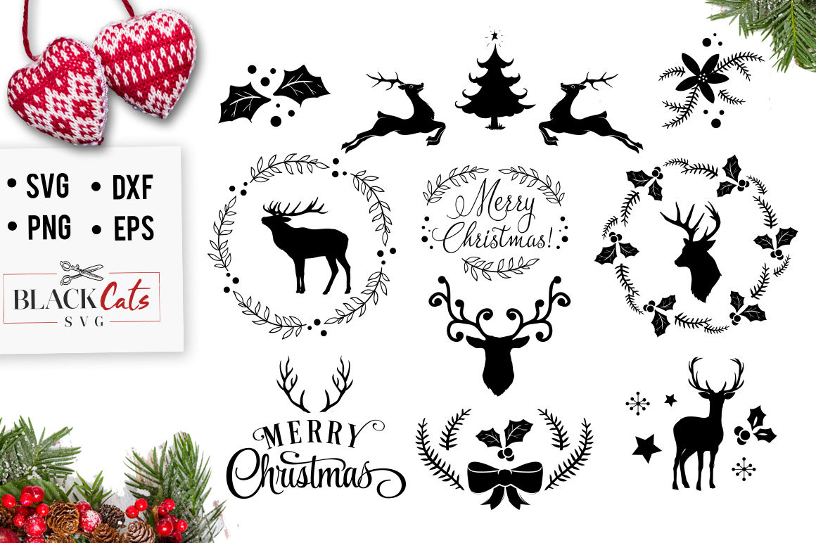 Download Christmas SVG pack By BlackCatsSVG | TheHungryJPEG.com