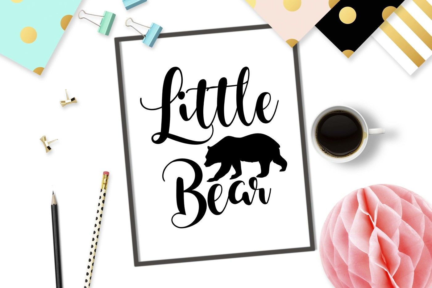 Little Bear Svg Dxf Png Eps By Theblackcatprints Thehungryjpeg Com
