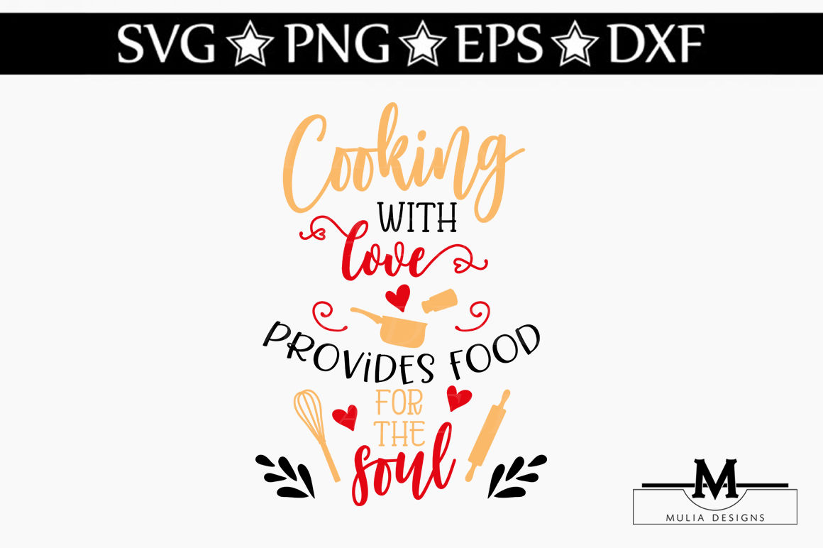 Cooking With Love Svg By Mulia Designs Thehungryjpeg Com