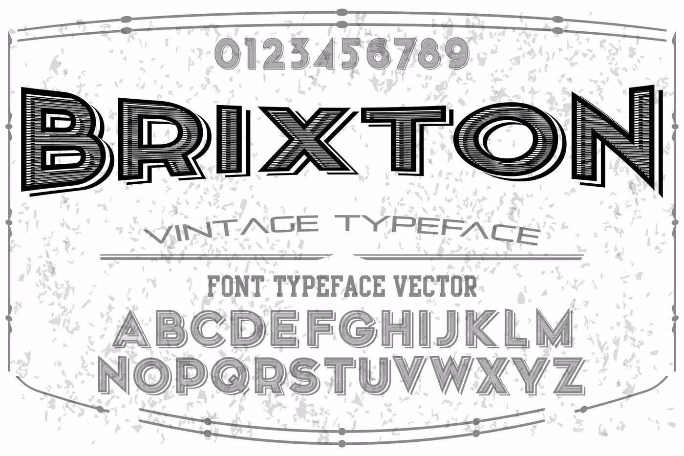 font script typeface vector named brixton By vintage_font