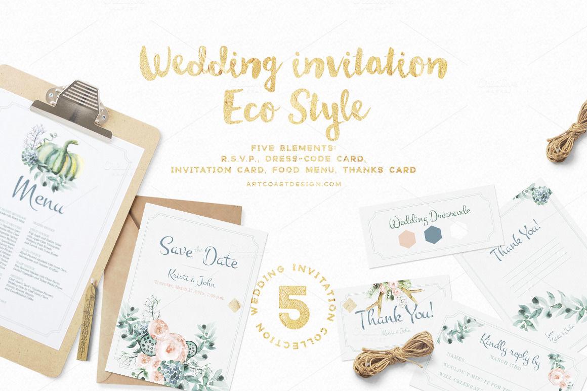 Wedding Invitation Eco Style By Spasibenko Art