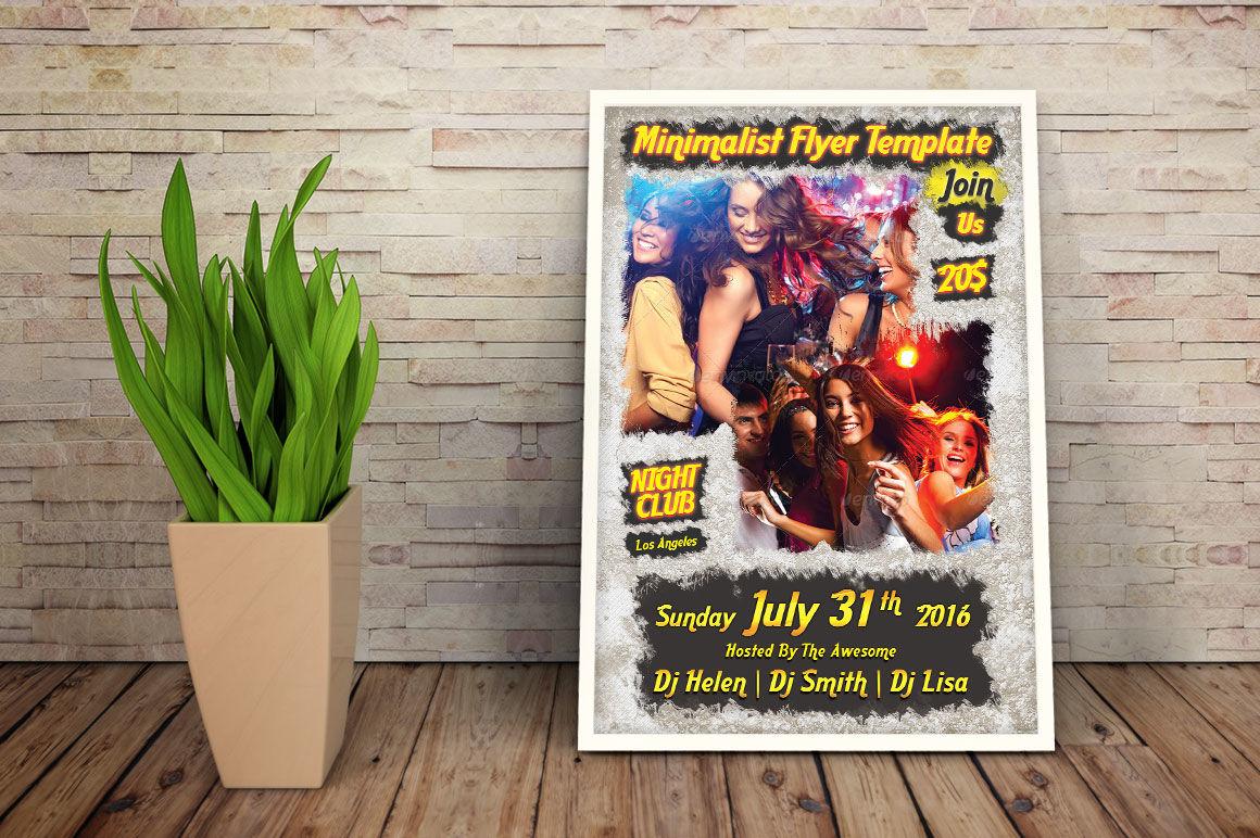 Retro Grunge Party Flyer By Digital Artist Thehungryjpeg Com
